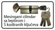 Cilindar sa 5 kodiranih ključeva i leptirom