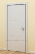 Bela sobna vrata sa 2 vertikalna i 3 horizontalna polja