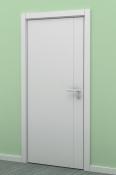 Bela sobna vrata od medijapana sa 1 vertikalnom podelom