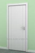 Bela sobna vrata od medijapana sa 2 vertikalne podele