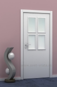 Bela sobna vrata od medijapana - Kansas plus