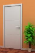 Bela sobna vrata od medijapana sa 3 polja