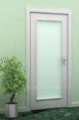 Bela sobna vrata sa 1 otvorom za staklo