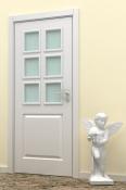Bela sobna vrata sa otvorom za staklo Adversus