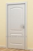 Bela sobna vrata sa lukom