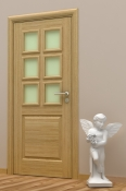 Sobna vrata od hrastovog furnira i masiva.