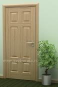 Sobna vrata od furnira hrasta i masiva sa 6 polja