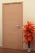 Sobna vrata od furnira bukve sa 3 polja i 2 vertikalne podele
