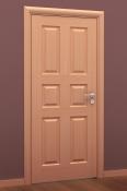 Sobna vrata od furnira bukve i masiva sa 6 polja