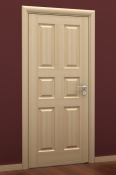Sobna vrata od furnira jasena i masiva sa 6 polja