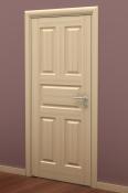 Sobna vrata od furnira jasena i masiva sa 5 polja