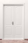 Dvokrilna unutrašnja vrata od medijapana u beloj boji